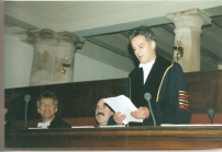 Joop at PhD Thesis Defence Wilma - 1995