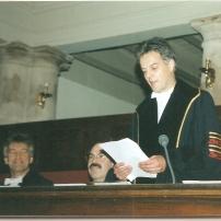Joop at PhD Thesis Defence Wilma - 1995